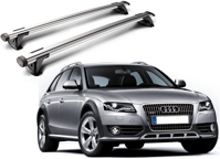 Whispbar Through Träger für AUDI A4 ALLROAD 2009 - 2012 mit Dachreling,       mit Dachreling, K328 mount + S16
