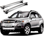 Whispbar Through Träger für CHEVROLET CAPTIVA   2006 - 2012,    mit Dachreling, K328 mount   + S16